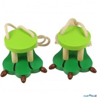 Dřevěné hračky - Chůdy provazové - Zvířecí nohy, Krokodýl (Bigjigs)