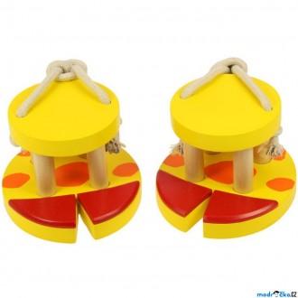Dřevěné hračky - Chůdy provazové - Zvířecí nohy, Žirafa (Bigjigs)