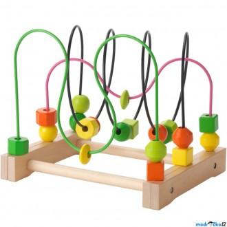 Dřevěné hračky - Motorický labyrint drátěný - MULA (Ikea)