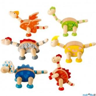 Dřevěné hračky - Dřevěný figurka - Flexibilní, Dinosaurus, 1ks (Legler)