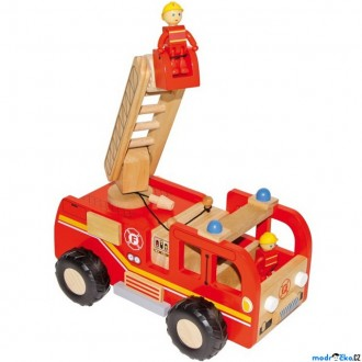 Dřevěné hračky - Auto - Hasičské velké dřevěné (Maxim)