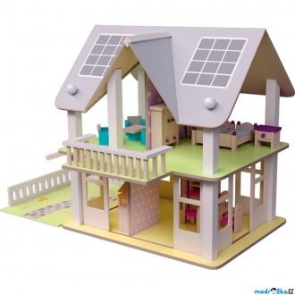 JIŽ SE NEPRODÁVÁ - Domeček pro panenky - Nancy s balkónem (Woody)