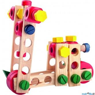 Stavebnice - Stavebnice montážní - Konstruktér, 100 dílů (Woody)