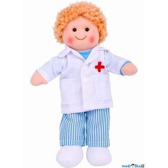 Pro holky - Panenka hadrová - 28cm, Doktor Tommy (Bigjigs)