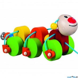 Dřevěné hračky - Tahací hračka - Housenka Julie (Detoa)