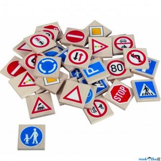 Dřevěné hračky - Pexeso - Masiv, Dopravní značky, 36ks (Detoa)