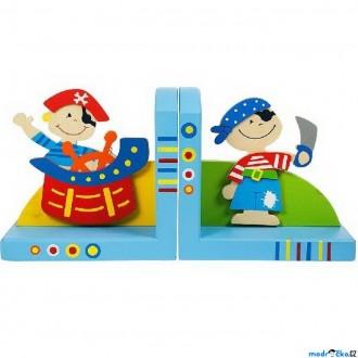 Dřevěné hračky - Knižní zarážky - Piráti, 2ks (Bigjigs)