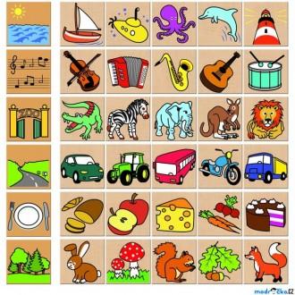 Puzzle a hlavolamy - Puzzle výukové - Co kam patří, 36ks (Detoa)
