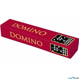 Dřevěné hračky - Domino - Klasické černé, 55ks (Detoa)