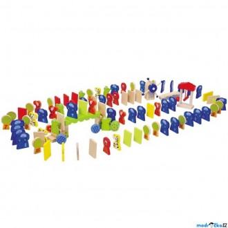 Dřevěné hračky - Dominová dráha - Domino Rally Zoo (Legler)