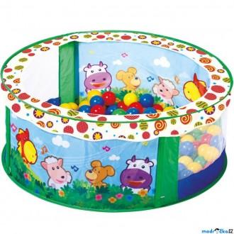 JIŽ SE NEPRODÁVÁ - Bazén s balónky - Se zvířátky, 80 balónků (Bino)