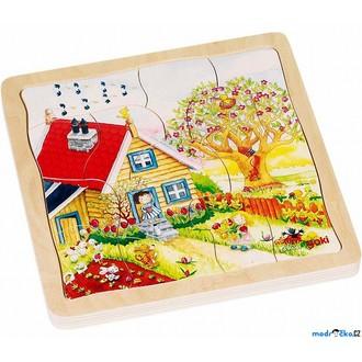 Puzzle a hlavolamy - Puzzle výukové - Roční období, 4 vrstvy, 54ks (Goki)