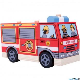 Dřevěné hračky - Auto skládací - Hasiči (Bigjigs)
