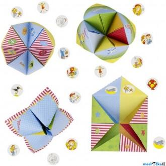 Dřevěné hračky - Kreativní sada - Skládačka z papíru, Nebe-peklo-ráj (Goki)