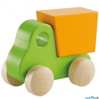JIŽ SE NEPRODÁVÁ - Auto - Dřevěné zelené nákladní (Hape)