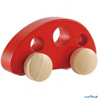 Dřevěné hračky - Auto - Dřevěný červený Minivan (Hape)