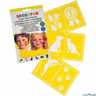 Ostatní hračky - Snazaroo - Šablony na obličejové barvy 6ks, Zvířátka