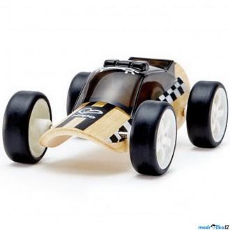 Dřevěné hračky - Auto - Autíčko mini Police Car černé (Hape)