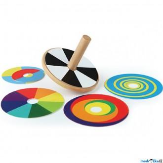 JIŽ SE NEPRODÁVÁ - Drobné hračky - Káča dřevěná, Vyměnitelný vzor (Hape)