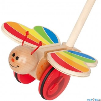 Dřevěné hračky - Jezdík na tyči - Motýl s mávajícími křídly (Hape)
