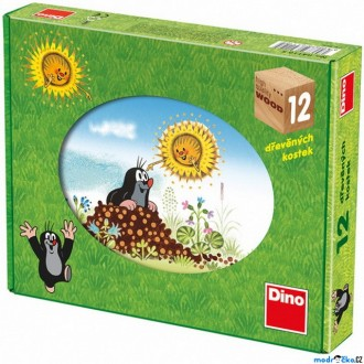 Stavebnice - Kostky obrázkové 12ks - Krtkův rok (Dino)