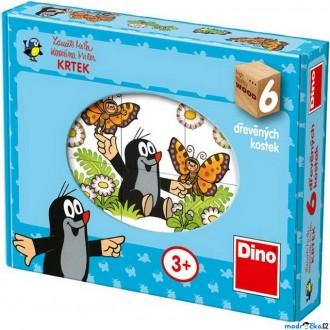 Stavebnice - Kostky obrázkové 6ks - Veselý Krtek (Dino)