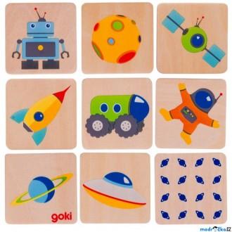 Dřevěné hračky - Pexeso - Vesmír, 16ks (Goki)