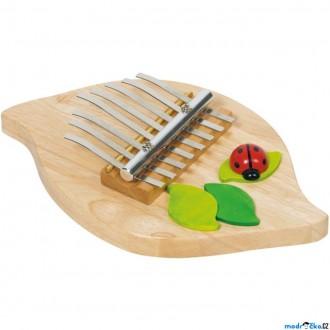 Dřevěné hračky - Hudba - Kalimba dřevěná s beruškou (Goki)