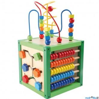 Dřevěné hračky - Motorická kostka - Didaktická kostka zelená (Legler)
