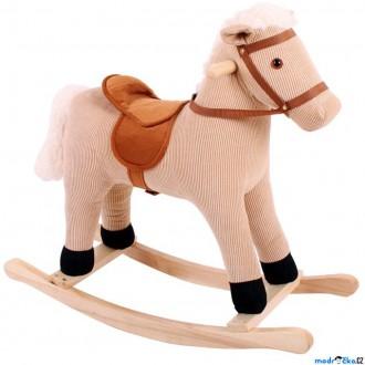 Dřevěné hračky - Houpadlo - Houpací kůň, Hnědý manšestr (Bigjigs)