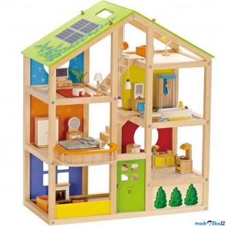 Dřevěné hračky - Domeček pro panenky - All Season plně vybavený (Hape)