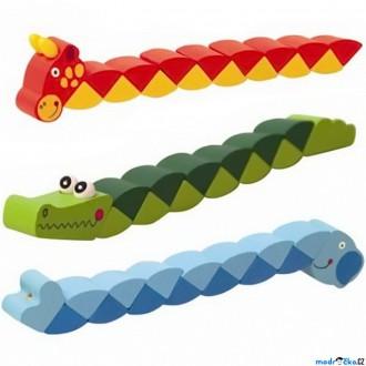Dřevěné hračky - Drobné hračky - Had do kapsy, Zvířátko, 1ks (Woody)
