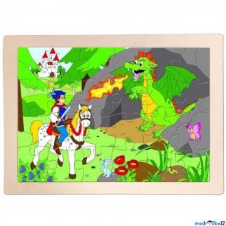 Puzzle a hlavolamy - Puzzle na desce - Pohádka Princ Bajaja, 24ks (Woody)