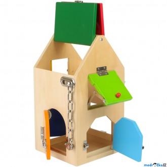 Dřevěné hračky - Motorická hračka - Domeček se zámky (Legler)