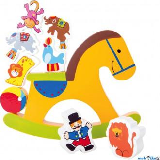 Dřevěné hračky - Motorická hra - Balanční houpací koník (Legler)
