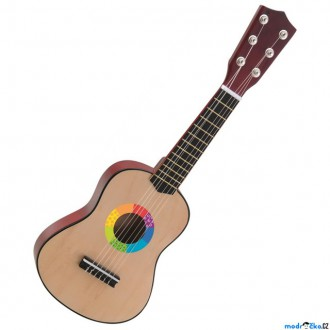 Dřevěné hračky - Hudba - Kytara, Dětská malá, 6 strun (Woody)