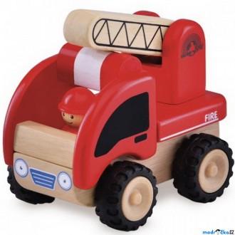 Dřevěné hračky - Auto - Miniworld, Hasičské dřevěné (Wonderworld)
