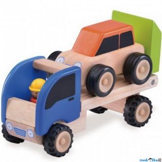 Dřevěné hračky - Auto - Miniworld, Odtahové auto dřevěné (Wonderworld)