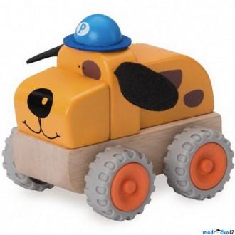 Dřevěné hračky - Auto - Miniworld, Policejní pes dřevěné (Wonderworld)