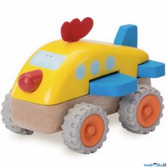 Dřevěné hračky - Letadlo - Miniworld, Kuře dřevěné (Wonderworld)