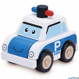 Dřevěné hračky - Auto skládací - Miniworld, Policejní dřevěné (Wonderworld)