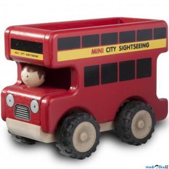 JIŽ SE NEPRODÁVÁ - Auto - Miniworld, Vyhlídkový autobus dřevěný (Wonderworld)