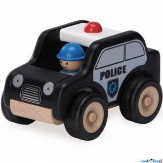 Dřevěné hračky - Auto - Miniworld, Hlídkové vozidlo dřevěné (Wonderworld)