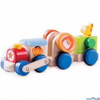 Dřevěné hračky - Vlak dřevěný - Vláček safari (Wonderworld)