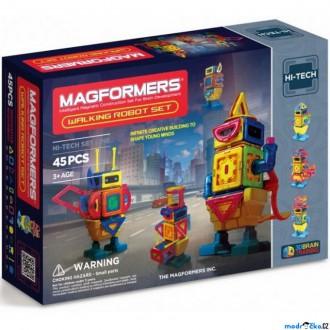Stavebnice - Magformers - Chodící robot, 45 ks