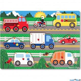 Puzzle a hlavolamy - Puzzle vkládací - Dopravní prostředky, 8ks (M&D)