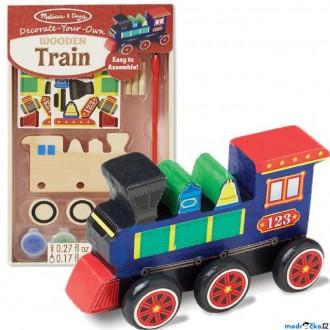 Dřevěné hračky - Kreativní sada - Slož si model, Vláček (M&D)