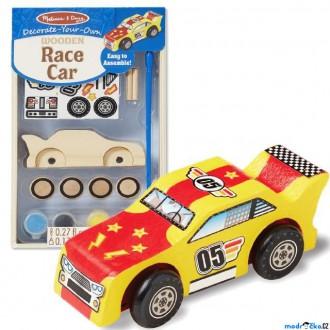 Dřevěné hračky - Kreativní sada - Slož si model, Auto závodní (M&D)