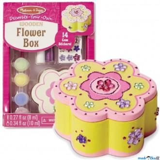 Dřevěné hračky - Kreativní sada - Dekorace, Šperkovnice květina (M&D)