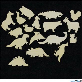 JIŽ SE NEPRODÁVÁ - Hrací stěna - Dílky zvířátka a dinosauři, 17 dílků